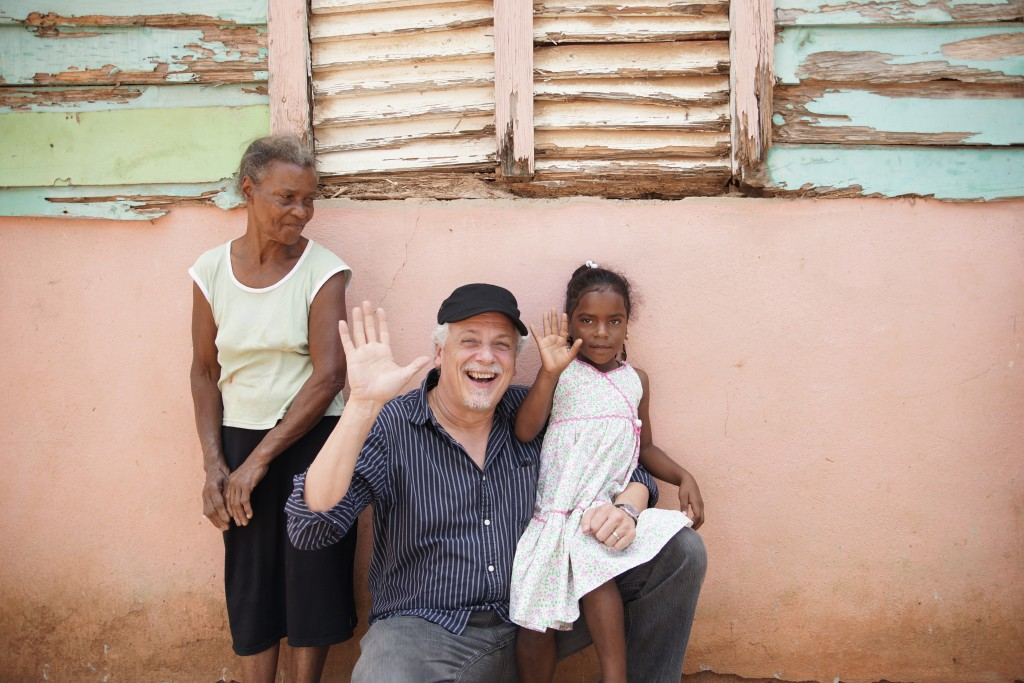Meeting Cristal Mariel, our sponsored child in the Dominican Republic. Her Grandmother looks on.